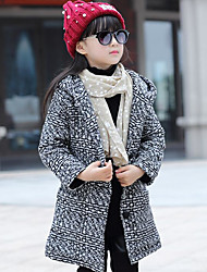 Girl's Casual/Daily Plaid Suit & BlazerCotton Winter / Fall Brown / Red / White