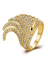 Anéis Sexy / Fashion / Caixas de presente e Bolsas / Estilo Halloween / Casamento / Pesta / Diário Jóias Chapeado Dourado FemininoAnéis