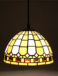 25W Pendant Light ,  Modern/Contemporary / Tiffany Painting Feature for Mini Style Glass Living Room / Entry