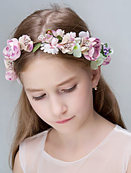Women's Imitation Pearl Polyester Foam Resin Headpiece-Wedding Special Occasion Casual Office & Career OutdoorTiaras Headbands Flowers