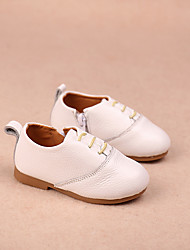 Girl's Flats Comfort Leather Casual White