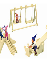PlaygRound Wooden Simulation/Stereo DIY Assembly Model Educational Toys
