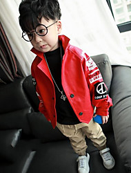 Boy's Casual/Daily Print Suit & BlazerCotton Fall Black / Red