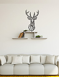 AYA DIY Wall Stickers Wall Decals Abstract Geometric Deer Style PVC Stickers