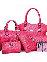 Women PU Casual Bag Sets