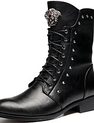 Men's Boots Spring/Fall/Winter Cowboy /Western Boots / Combat Boots Synthetic Party & Evening/Casual Black Snow Boots