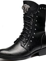 Для мужчин Ботинки В ковбойском стиле Армейские ботинки Синтетика Весна Осень Зима Повседневные Для вечеринки / ужинаВ ковбойском стиле