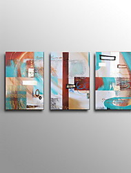Abstract Oil Painting Modern Wall Art Set of 3 Hand Painted Canvas with Stretched Framed