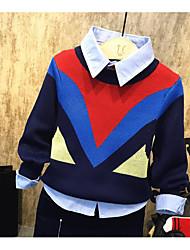 Pull & Cardigan Boy Couleur Pleine Décontracté / Quotidien Acrylique Hiver / Automne Bleu