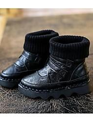 Girl's Boots Comfort Microfibre Casual Black / Khaki