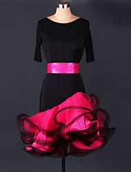 Latin Dance Dresses Women's Performance Spandex Leopard 1 Piece Latin Dance Dress