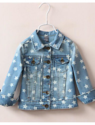 Girl's Casual/Daily Polka Dot Jeans / Suit & BlazerCotton Spring Blue