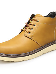 Men's Boots Fall / Winter Others Leather Casual Flat Heel Lace-up Black / Brown / Yellow Others