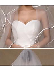 Свадебные вуали Один слой Фата для венчания Закруглённый край Тюль