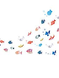 Cartoon Shoal Of Fish Underwater World Wall Stickers DIY Children's Bedroom Wall Decals