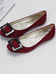 Women's Flats Fall Winter Comfort Leather Casual Flat Heel Others Blue Pink Red Gray Others