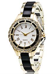 Женские Модные часы Наручные часы Повседневные часы / Кварцевый сплав Группа Cool Повседневная Черный Белый Синий Красный Роуз