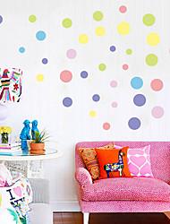 Мода / Пейзаж / Геометрия Наклейки Простые наклейки Декоративные наклейки на стены,PVC материалВлажная чистка / Съемная / Положение