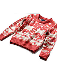 Girl's Casual/Daily Print Sweater & CardiganCotton Winter / Fall Red