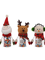 1PC Christmas Pet Green Candy Jar - Santa Claus / Snowman / Elk(Random Color)