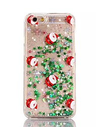 For iPhone 7 Case / iPhone 6 Case / iPhone 5 Case Flowing Liquid / Translucent / Pattern Case Back Cover Case Christmas Hard PC Apple