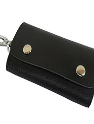 Men Key Holder PU Casual Outdoor Black