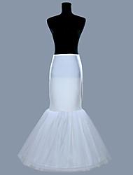 Unterhosen Abendkleid Bodenlänge 1 Polyester Weiß