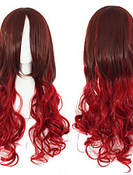 Long Wavy Curly Lolita Wigs Brown Red Peruca High Temperature Heat Resistant Synthetic Wigs