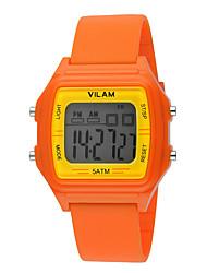 Kinder Sportuhr / Armbanduhr digital LED / Wasserdicht Plastic BandVintage / Karton / Streifen / Heart Shape / Süßigkeit / Regenbogen /