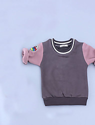 Girl's Casual/Daily Solid Hoodie & SweatshirtCotton Spring / Fall Black / Gray