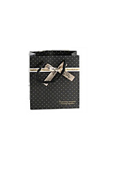 billete de diez presente para la venta tamaño de 14 * 7 * 15cm bowknot negro bolsas bolsa de papel de regalo