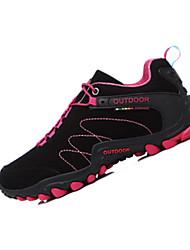 Feminino-Tênis-Conforto-Rasteiro-Azul / Roxo / Cinza / Coral / Preto e Vermelho-Couro Ecológico-Para Esporte