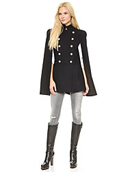 Uniform section double-breasted gold buttons delicate shrug cape cloak overcoat 8016 spot