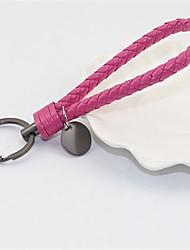 chaîne principale clé automobile anneau de corde en cuir tissé à la main