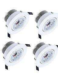 Downlight de LED Branco Quente / Branco Frio / Branco Natural LED 4 pçs