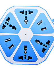 vier USB-Multifunktions-Obst Reihe Stecker (sky blue Obst Zug)