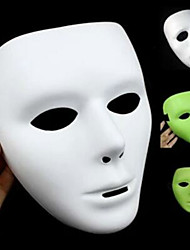 Хэллоуин маска wuke призрак танец светящейся маски танец белой маски танец wuke хип-хоп маски