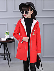 Girl's Casual/Daily Print Down & Cotton PaddedCotton / Rayon Winter / Spring / Fall Red / Yellow / Gray