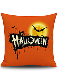Halloween Bats Square Linen  Decorative Throw Pillow Case Kawaii Cushion Cover