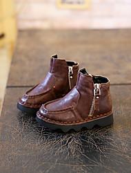 Boy's Boots Comfort Microfibre Casual Black / Brown
