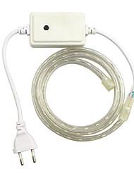 1pcs / 1m eu 220-240V führte rgb wasserdichte Lampe Gürtel 5050 Band Gartenlicht RGB-Controller leuchten