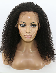 12-26 Inch Natural Looking Kinky Curly Full Lace & Lace Front Wig Human Virgin Hair Lace Wig with Baby Hair