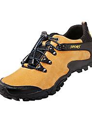 Черный / Синий / Золотистый-Мужской-Для занятий спортом-Полиуретан-На плоской подошве-Удобная обувь-Кеды