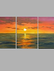Handpainted Abstract Sea view sunrise Wall Art  Home Decor Stretchered Frame