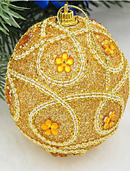noël décorations 8 paillettes cm de luxe robe de haute qualité décorer des boules de Noël arbre de Noël à accrocher couleur aléatoire
