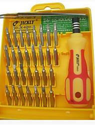 conjunto de parafusos em caixa do reparo do telefone móvel computer-32 em uma chave de fenda multi-função