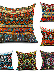 Kilim Tribal Throw Case Cotton Linen Decorative 2 Sides Printing Modern Contemporary Pillow Cover