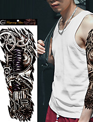 1Pcs  Large Robot Full Arm Temporary Tattoos Sticker Mechanical Patten Waterproof Fake Transfer Tattoo Sleeve Body Art