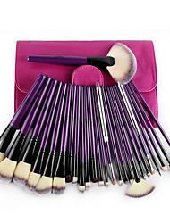 24 ensembles de brosses Pinceau en NylonEcologique / Cheveux de Cheval / Limite les Bactéries / Hypoallergique / Portable / Professionnel