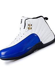 Men's Athletic Shoes Spring / Fall Comfort PU Athletic Flat Heel Others / Lace-up Black / Blue / Red / White Basketball